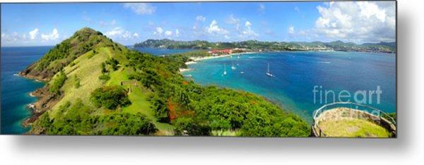 St Lucia - Rodney Bay Panorama - 01 Metal Print