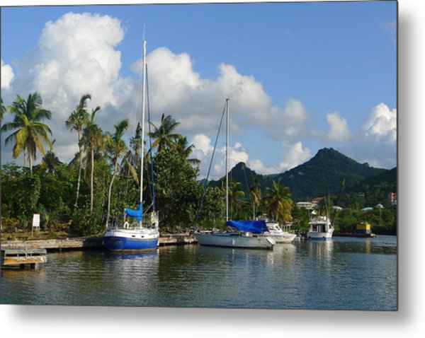 St. Lucia - Cruise - Boats At Dock Metal Print