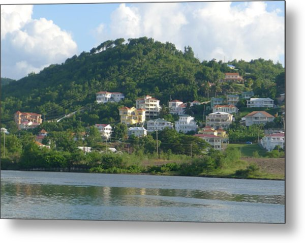 St. Lucia - Cruise View  Metal Print