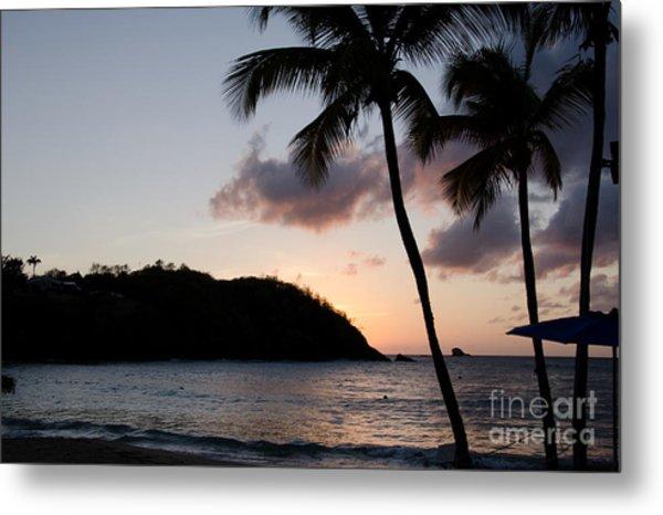 St. Lucian Sunset Metal Print