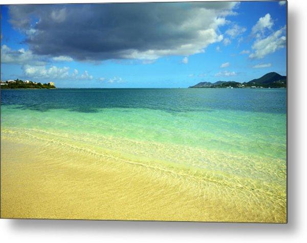 St. Maarten Tropical Paradise Metal Print