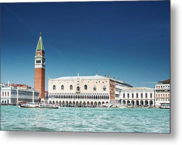 St Marks Square With Venice Skyline Metal Print by Franckreporter