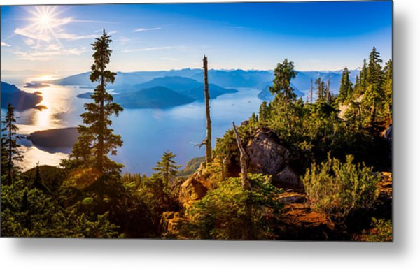 St Mark's Summit Near Vancouver Metal Print
