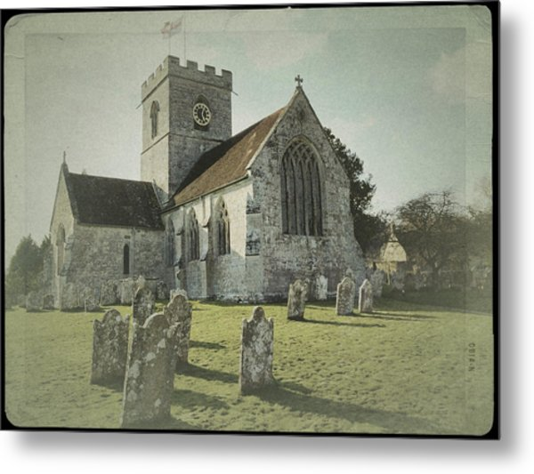 St Marys Church Dinton And Churchyard Metal Print