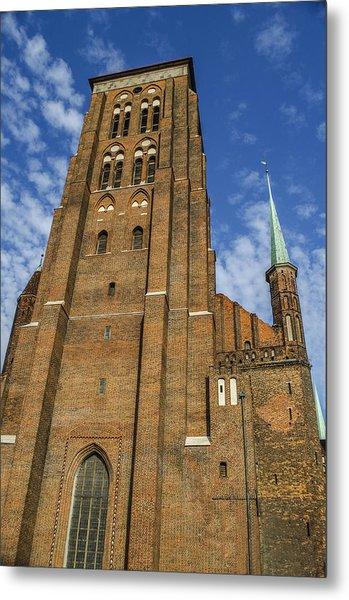 St. Mary's Church In Gdansk Metal Print by Adam Budziarek