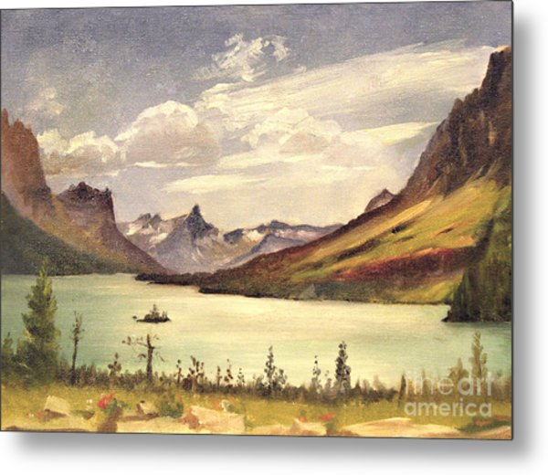 St. Marys Lake- Glacier Park 1935 Metal Print