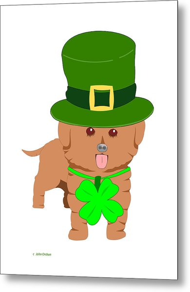 St. Patrick's Dog Metal Print