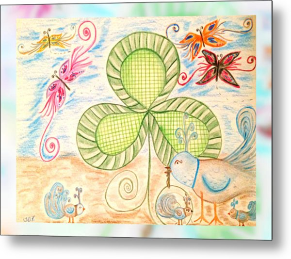 St Pattys Day Lunch Metal Print