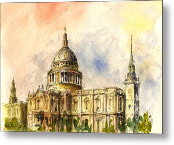 St Paul Cathedral Metal Print