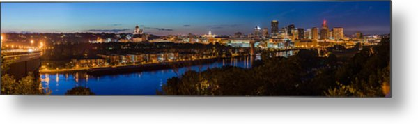 St Paul Skyline At Dusk Metal Print