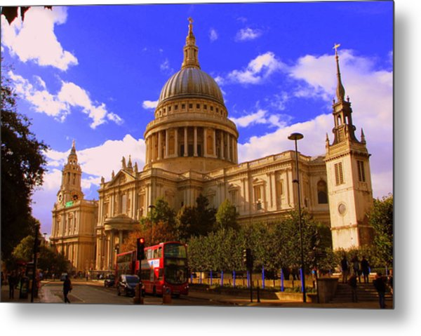 St Pauls Catherdral Metal Print by Donald Turner