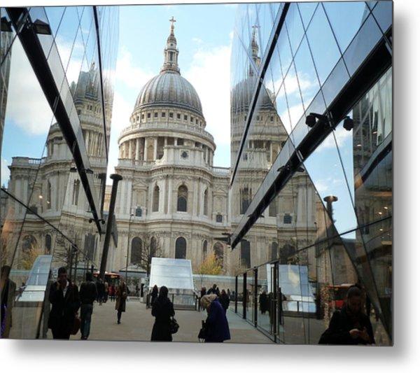 St Paul's Reflected Metal Print
