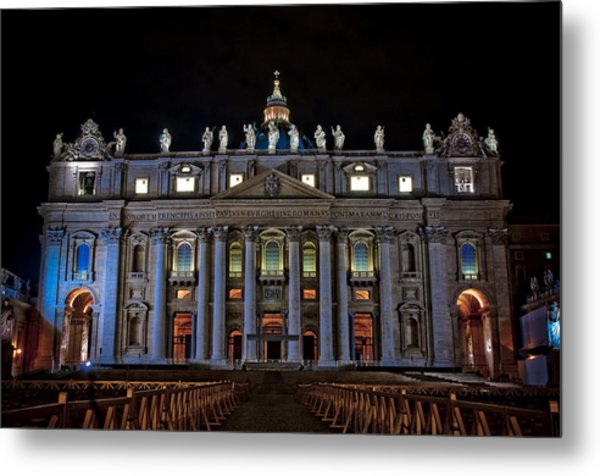 St Peter's At Night Metal Print
