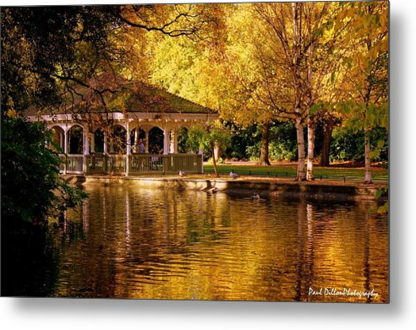 St Stephen Green Dublin Metal Print by Paul Dillon