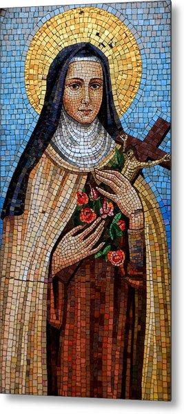 St. Theresa Mosaic Metal Print
