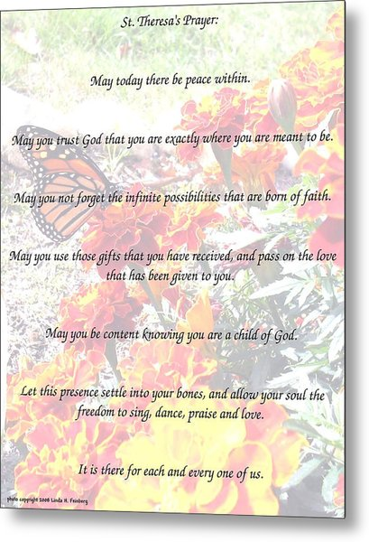 St Theresa's Prayer Metal Print