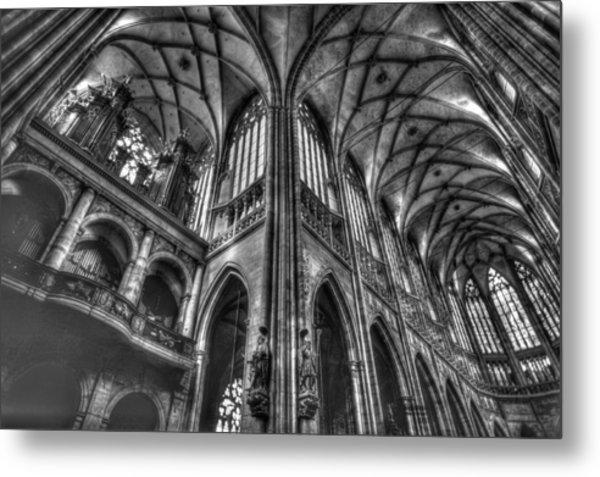 St Vitus Cathedral Prague Metal Print