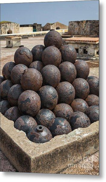 Stack Of Cannon Balls At Castillo San Felipe Del Morro Metal Print