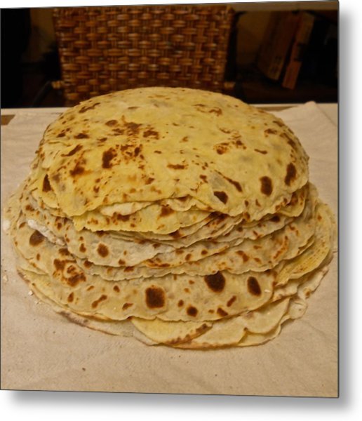 Stack Of Lefse Rounds Metal Print