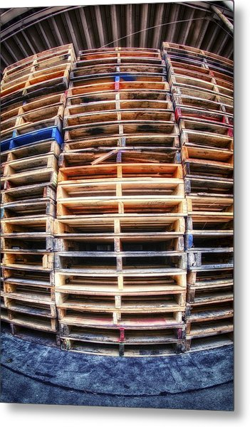 Stack Of Pallets Metal Print by Rscpics