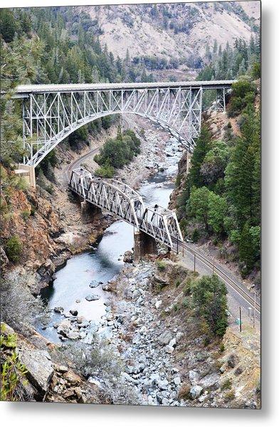 Stacked Bridges Metal Print