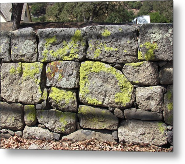 Stacked Stone Wall Metal Print