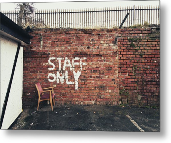 Staff Only Metal Print