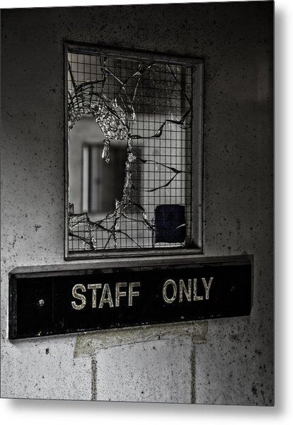 Staff Only Metal Print