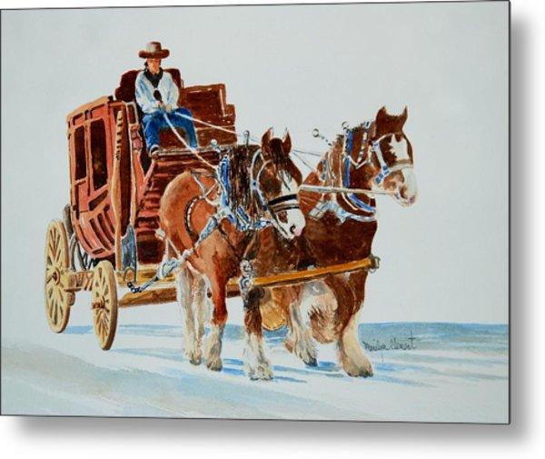Stagecoach Metal Print