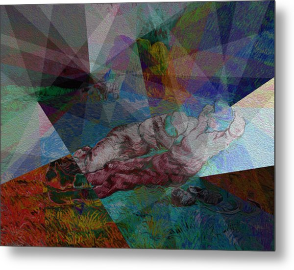 Metal Print featuring the painting Stained Glass I by David Bridburg