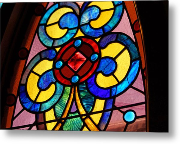 Stain Glass Metal Print by Thomas Fouch