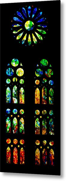Stained Glass Windows - Sagrada Familia Barcelona Spain Metal Print