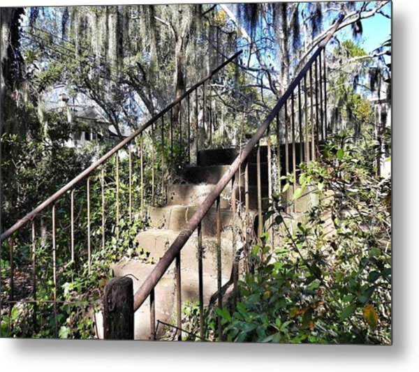Stairs That Go Nowhere Metal Print