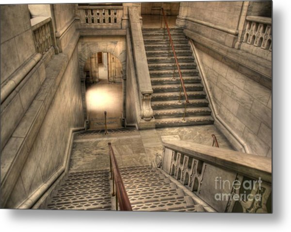 Stairs Up And Down Metal Print by David Bearden