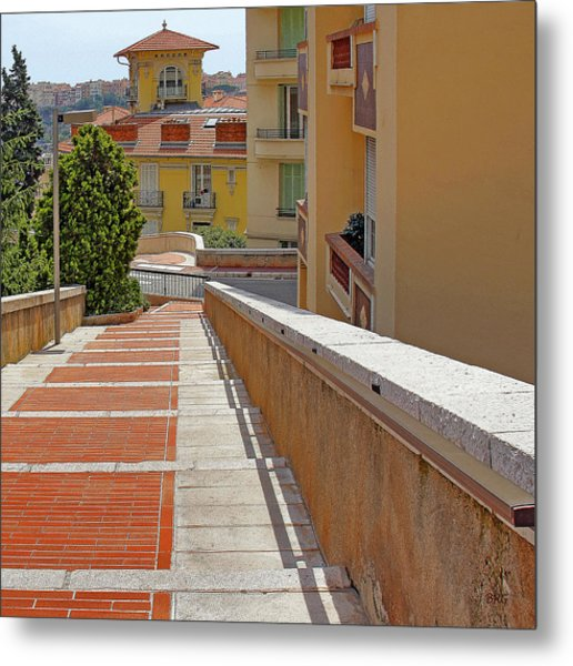 Stairway In Monaco French Riviera Metal Print