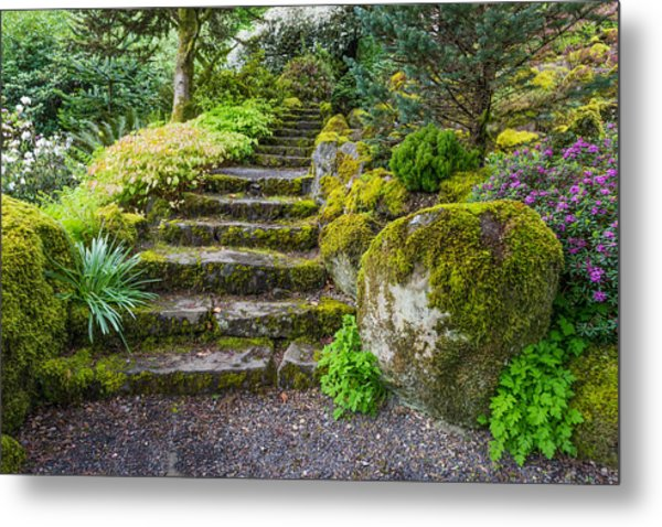 Metal Print featuring the photograph Stairway To The Secret Garden by Priya Ghose