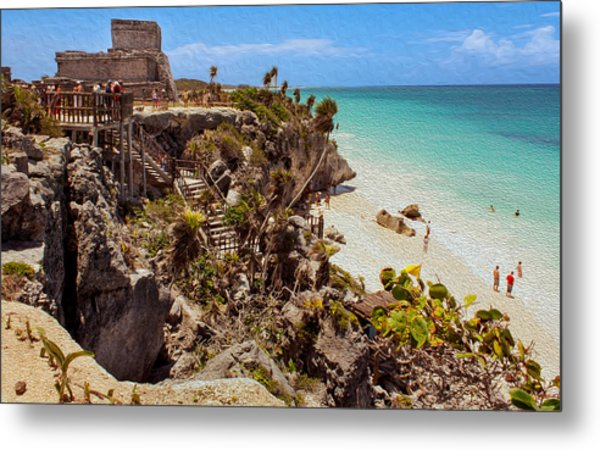 Stairway To The Tulum Beach  Metal Print