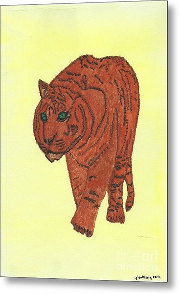 Stalking Tiger Metal Print