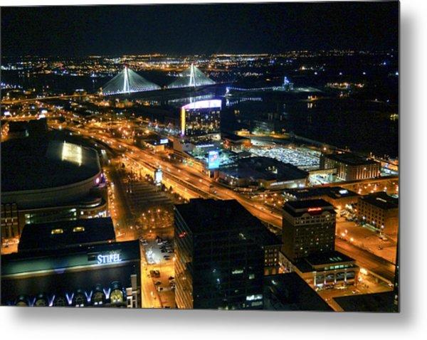 Stan Musial Bridge In St Louis Mo Dsc03215 Metal Print