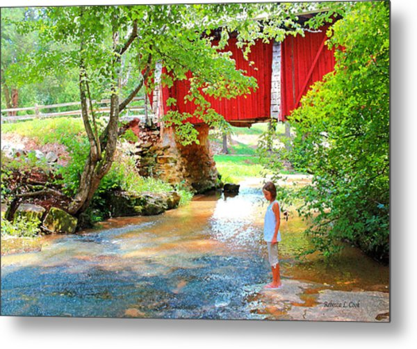 Standing By The River At Campbell's Bridge Metal Print