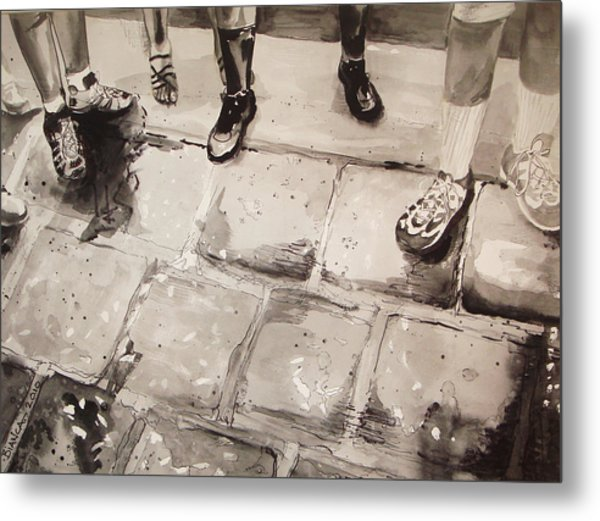 Standing On Ballast					 Metal Print by Bianca Romani