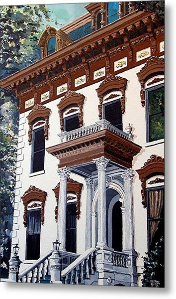 Stanford Mansion Metal Print by Paul Guyer