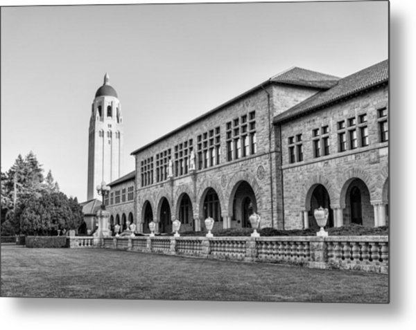 Metal Print featuring the photograph Stanford University In Black And White by Priya Ghose