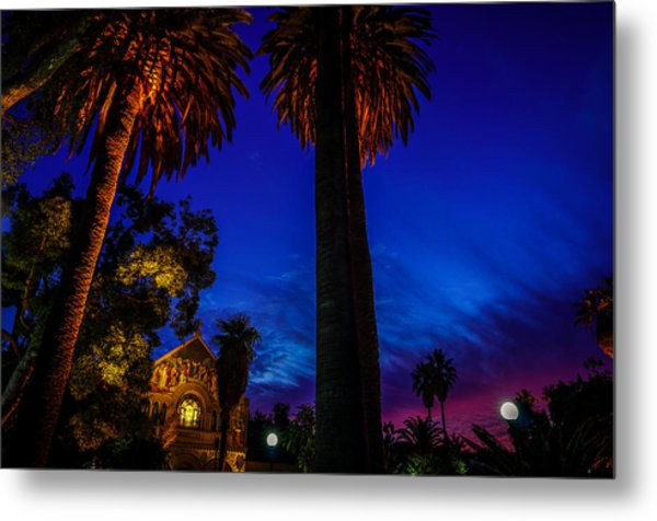 Stanford University Memorial Church At Sunset Metal Print
