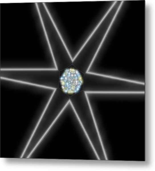 Star Of Creation Digital Art By Saribelle Rodriguez Metal Print