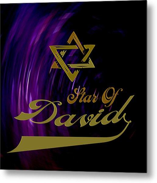 Star Of David Metal Print by Daryl Macintyre