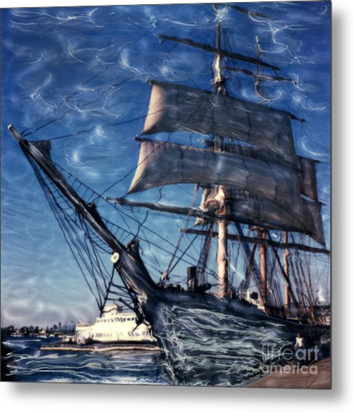 Star Of India Ghost Ship Metal Print