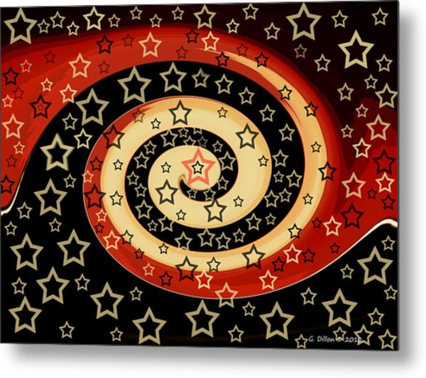 Metal Print featuring the photograph Star Swirl by Grace Dillon