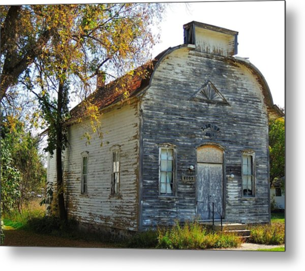 Star Township Building Metal Print by Mikel Classen