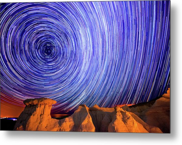 Star Trails Over The Colorado Paint Metal Print